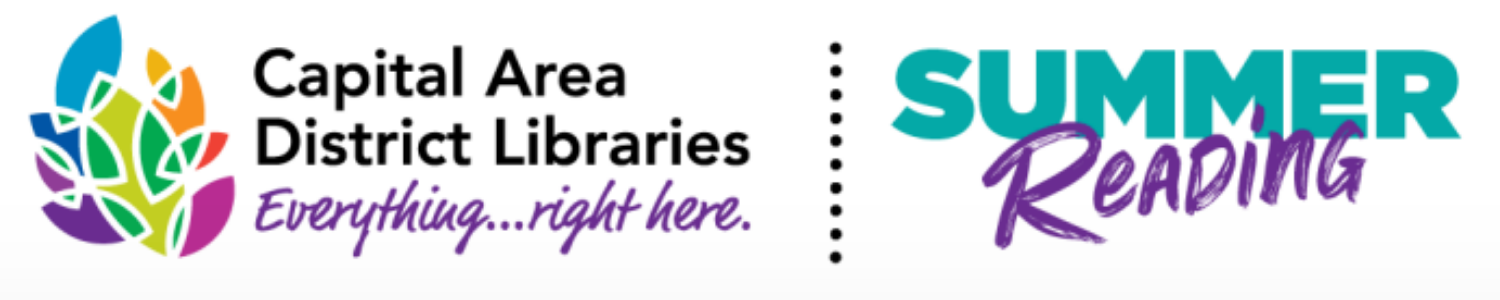 Capital Area District Libraries and Summer Reading Challenge logos