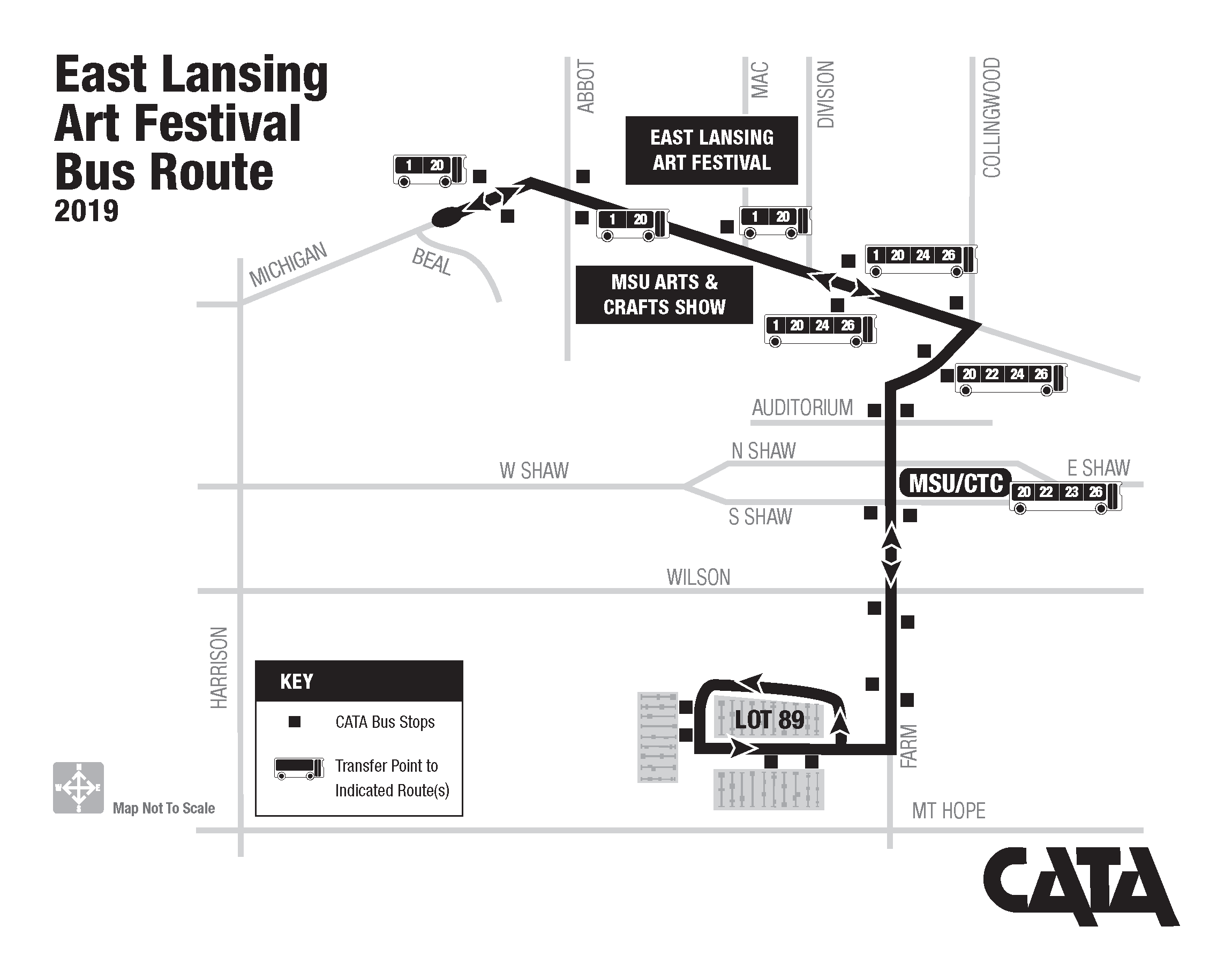 East Lansing Art Festival Bus Route