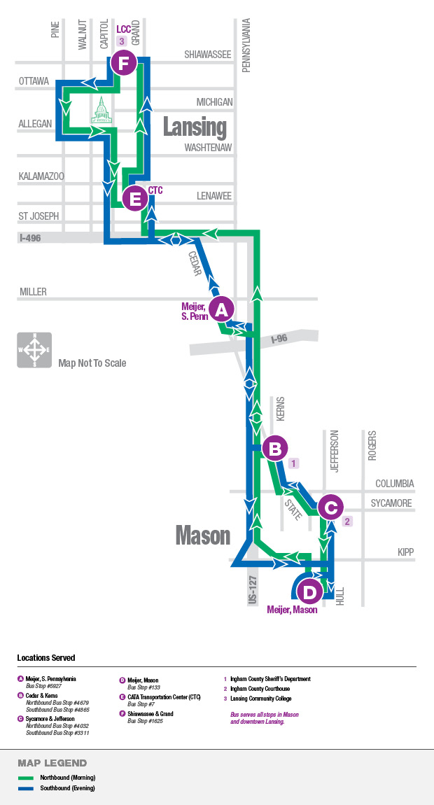 mason limited route map